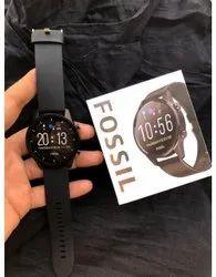 Black Round Fossil Smartwatch