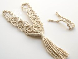 Natural Macrame Curtain Tie Back