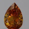 Pear 0.66ct Fancy Deep Yellowish Orange I1 GIA Certified Natural Diamond