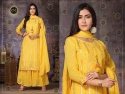 Stunning Yellow Sharara Suit