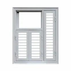 Prime Gold Hinged Aluminium Casement Window, For Residential