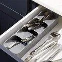 Kitchen Drawer Organizer Tray Cutlery Spoon Fork Storage Holder Rack Box Kitchen Tray-spoon tray
