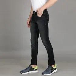 Regular Fit Party Wear Men Black Classic Denim Jeans