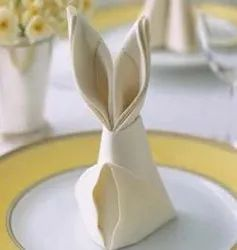 Plain White Table Napkin, Size: 18x18 In