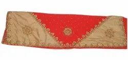 Golden, Red Party Wear Silk Saree, 6.5 m