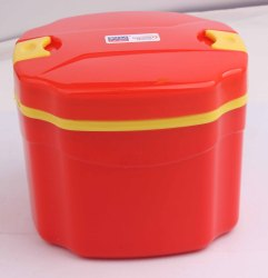 Plastic Insulated Tiffin Octa Lunch Box Office School 1200 Ml
