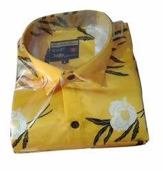 Cotton Printed Mens Partywear Shirt, Size: M-xxl