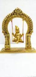 Anand Crafts Gold Plated Krishan Ji Statue