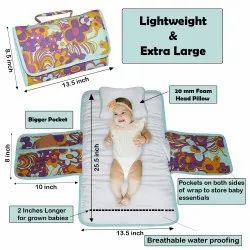Baby Diaper Changing Pad, Large Waterproof Travel Changing Mat,For Toddlers Infants & Newborns
