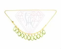 Green Amethyst Gemstone Necklace