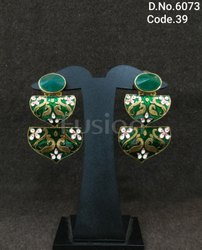 Trendy Meenakari Hanging Earrings