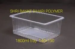 1800 Ml Plastic Food Packing Tray