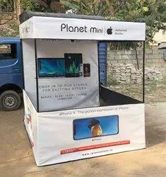 白色PVC显示器演示帐篷用于产品促销和展览,促销,尺寸:7英尺(H)