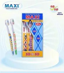 Adult Medium Maxi Toothbrush for Tooth Cleaning, Packaging Size: 12pcs Outer