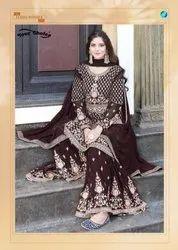 Your Choice Emaar Georgette Bridal Look Sharara Style Salwar Suit Catalog