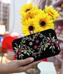 Party Embroidered Indian Women Handbag Clutch Bag Bridal Purse