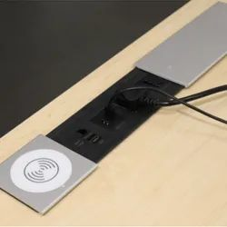 Plastic Black Electric Box Slide Out With Wireless Charger, Size: 350 X 100 X 47 Mm
