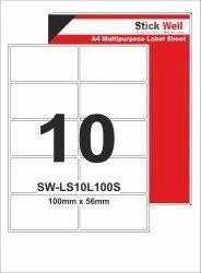 A4 LABEL SHEET LS10L ( 100mm X 56mm ) STICKWELL