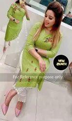 Leranath Fashion A-Line Fancy Rayon Cotton Ladies Suit