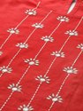 Jaipur Kurti Women Red Self Weave Straight Cotton Flex Kurta
