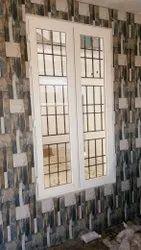 Residential White Opening Window Frame