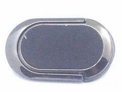Clip Type Black leather finish finger ring mobile holder