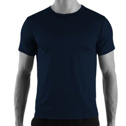 Plain Half Sleeve 100 % Cotton Smooth Round Neck T Shirts