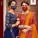 Vichitra Silk With Fancy Border Saree With Mask