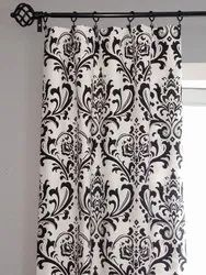 black and white floral pattern curtains
