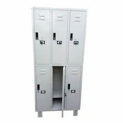 Mild Steel Polished 6 Door Staff Locker