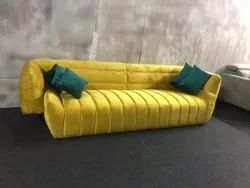 Yellow 3 Seater Sofa Set Couch