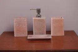 Pink Marble Bath Set