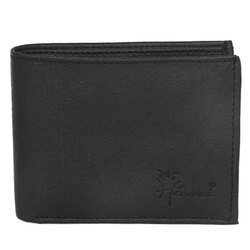 3Card Slot Hawai Black Non Leather Wallet For Men