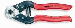 High Speed Steel KNIPEX Cable / Wire Rope Cutter, Model Name/Number: 95-61-190