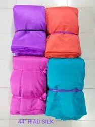 Plain Riad Silk Fabric, GSM: 50-100 Gsm