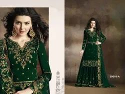Ladies Embroidered Georgette Gown