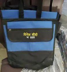 Blue and Black Matty Printed Carry Bag