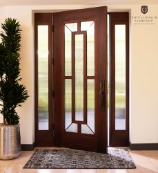 Swing Wooden Glass Door, For Office, Thickness: 1.5
