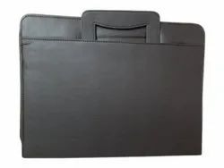 Black Leather Office Folder, Packaging Type: Poly Bag