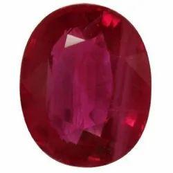 1 Carat Oval Red Ruby Gemstone