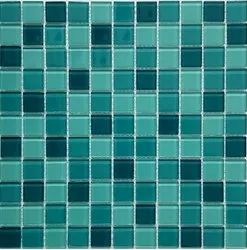 Multicolor Figured Crystal Mosaic Aqua Colour, For Home, Thickness: 4 Mm