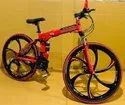 Red BMW Foldable Cycle