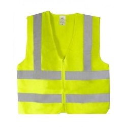 Unisex Plain Polyester Half Sleeves Reflective Safety Jackets