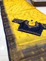 kanjivaram big border butta pure silk saree