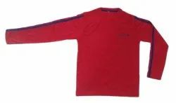 Casual Wear Red Kids Cotton Full Sleeve T Shirt, Size: 18-42