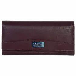 Genuine Leather Purple Wallet For Women Ladies Purse