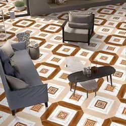 Matt Brown 600x600 Mm Glazed Porcelain Tile, For Flooring