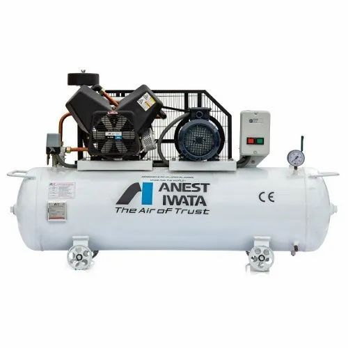 Anest Iwata TFS 30C-9 3 HP Air Cooled Oil Free Reciprocating Air Compressor