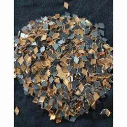 Plain Diamond Shape Fancy Glass Beads, For Decorations, Size: 5 Mm