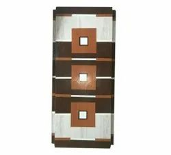 Brown 7 Feet Wooden Laminated Flush Door, For Home
